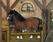 Old Stable Print by Anna Folkartanna Maciejewska-Dyba