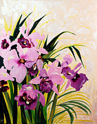 Beauty Reliefs Posters -  Orchid ... Poster by Janet Siraki