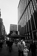 Outside Madison Square Garden New York City Winter Usa Print by Joe Fox