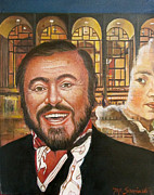 Pavarotti And The Ghost Of Lincoln Center Print by Melinda Saminski