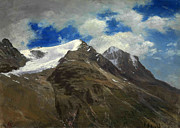Famous Artists - Peaks in the Rockies by Albert Bierstadt