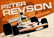 Evan DeCiren Art -  Peter Revson - F1 1973 Art Print  click to zoom Peter Revson - F1 1973 by Evan DeCiren