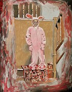 Pajamas Prints -  Pink Nightmare Print by Jeremy Moore