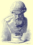 Ink Drawing Drawings -  Plato by Chapuis