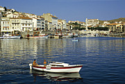 South West France Framed Prints -  Port Vendres Harbour France 1980s Framed Print by David Davies