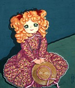 Donatella Muggianu Prints -  Portrait of Candy Candy doll Print by Donatella Muggianu