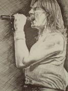 Portrait Of Joe Elliott Print by Chris Shepherd