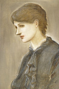 Portrait Of Mrs William J Stillman Nee Marie Spartali Print by Sir Edward Coley Burne Jones