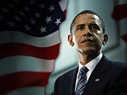 President Barack Obama Print by Marvin Blaine