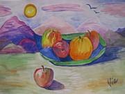 Judy Via-Wolff -  Ptg.Fruit in a landscape 2 Demo