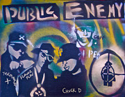 Rap Music Painting Originals -  Public Enemy Black Steel by Tony B Conscious