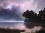 Bank Digital Art -   Rain Lake by Robert Foster