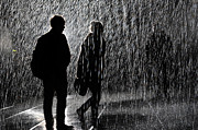 Installation Art Metal Prints -   Rain room at the Barbican. Metal Print by Yanice Idir