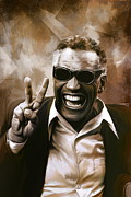 Blues Digital Art Originals -  Ray Charles by Andrzej  Szczerski