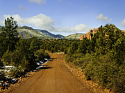 Prehistoric Digital Art Originals -  Red Canyon Road Sedona Back Country by Nadine and Bob Johnston