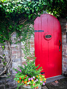 Stunning Prints -  Red Door in Old Savannah Print by Richard Anderson