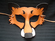 Canine Sculptures -  Red Fox Mask by Fibi  Bell