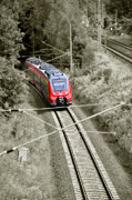 Rail Digital Art Originals -  Red train - Deutsche Bahn by Gynt