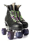 Roller Skates Art -  Retro roller skates by Lusoimages