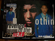 Williams Mixed Media Posters -  Revenge Of The Nerd Pharrell Williams Poster by Isis Kenney