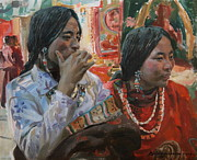 Tibet Painting Prints -  Rich choice Print by Victoria Kharchenko
