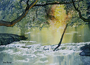 River Esk Prints -  River Esk in Full Flow Print by Glenn Marshall