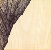 Climbing Drawings Posters -  Rock and Tree Mon Amour Poster by Giuseppe Epifani