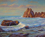 Terry Perham Prints -  Rocks West Coast Print by Terry Perham