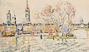 Landscape Posters Painting Framed Prints -  Rouen Framed Print by Paul Signac