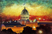 National Park Painting Metal Prints -  Royal Exhibition Building Metal Print by Catf