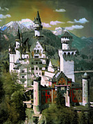 Rock Digital Art Originals -  Schloss Neuschwanstein by Andrzej  Szczerski
