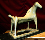 Clay Sculptures -  SEA MARE work in progress  by Charlie Spear