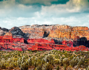 Prehistoric Digital Art Originals -  Secret Mountain Wilderness Sedona Arizona by Nadine and Bob Johnston