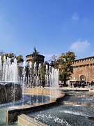 Old Milano Prints -  Sforzesco Castle in Milan Print by Karol Kozlowski