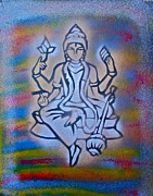 Stencil Art Paintings -  So Shiva 1 by Tony B Conscious