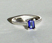 Shank Originals -  SOLD - Tanzanite Blue Mystic Topaz Ring by Robin Copper