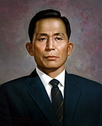Korea Paintings -  South Koreas President Park Chung-hee by Yoo Choong Yeul