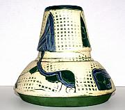Landscape Ceramics Originals -  Spaceship Flower Pot by Susan Perry