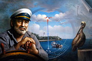 Pelican Painting Originals -  St. Simons Island Sea Captain 5 by Yoo Choong Yeul