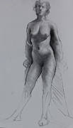 Exhibits Art -  Standing Nude by Ernest Principato