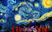 Nativity Digital Art -  Starry Night in Bethlehem by Sylvia Thornton
