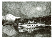 Early Drawings Originals -  Steamship Virginia V by Jack Pumphrey