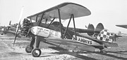 Stearman Prints -   Stearman -  Sammy Mansons stunt - Wasp Print by Hank  Clark