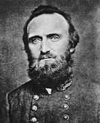 Person Photo Prints -  Stonewall Jackson Print by Anonymous