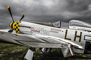 P51 Mustang Posters -  Stormy sky Mustang Poster by Chris Smith