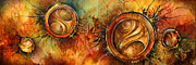 Burning Painting Posters -  Sun Gods  Poster by Michael Lang