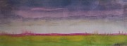 Prairie Sunset Paintings -  Sunset in Prairie by Vesna Antic