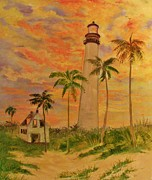 Beth Arroyo -   Sunset  Lighthouse