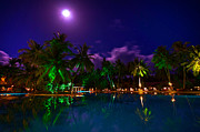 Release Framed Prints -  Super Full Moon at the Resort Framed Print by Jenny Rainbow