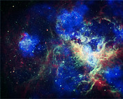Abstract Constellations Prints -  Tarantula Nebula 3 Print by The  Vault - Jennifer Rondinelli Reilly